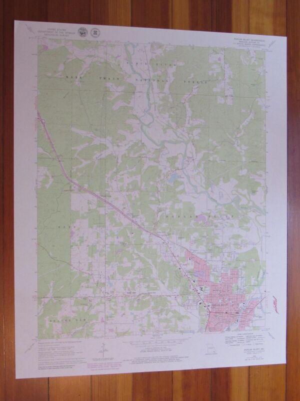 Poplar Bluff Missouri 1979 Original Vintage USGS Topo Map