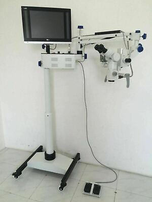 5 Step Dental Surgical Microscope - Motorized With Accessories Led Monitor