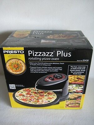 Pizzazz Plus Rotating Baking Food Counter Top Pizza Oven Presto 03430
