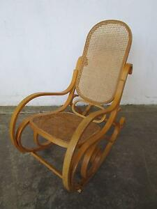 D5079 Lovely Bentwood & Rattan Rocking Chair Mount Barker Mount Barker Area Preview