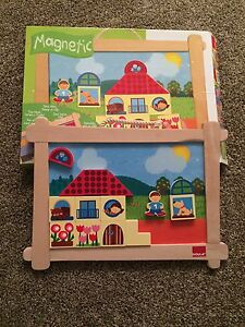 Double sided magnetic puzzle