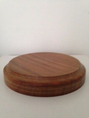 Vintage Wooden Stand / Plateau / Base for Glass Dome,Taxidermy,Statue,Jewellery