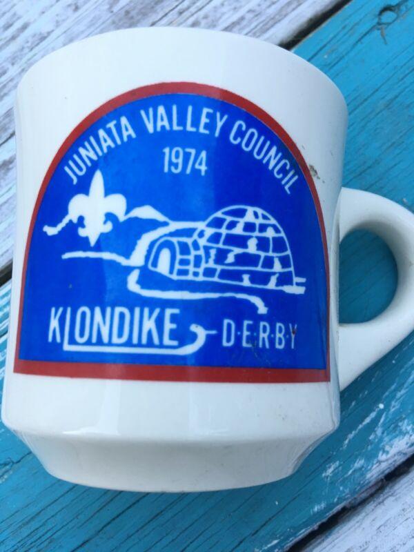 KLONDIKE DERBY MUG 1974 Boy Scouts JUNIATA VALLEY COUNCIL