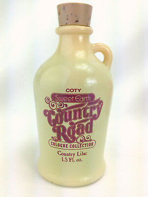 Vtg Coty Sweet Earth Country Road Cologne Country Lilac Perfume Bottle Jug 1.5oz