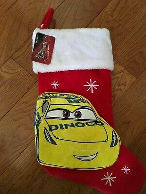 Disney Dinoco Cars Plush Fleece Christmas Stocking NWT