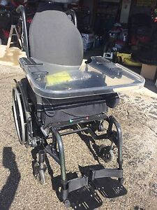 Wheel chair with tray.