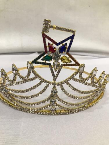OES MATRON CROWN IN GOLD COLOR, ORDER OF THE EASTERN STAR CROWN
