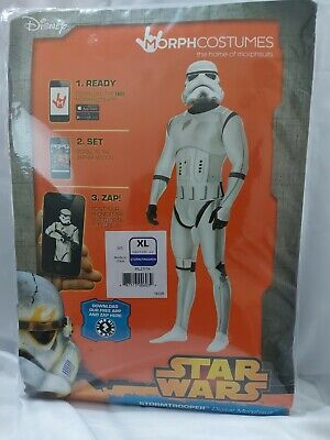 STAR WARS Stormtrooper ADULT Costume Digital Morphsuit Large