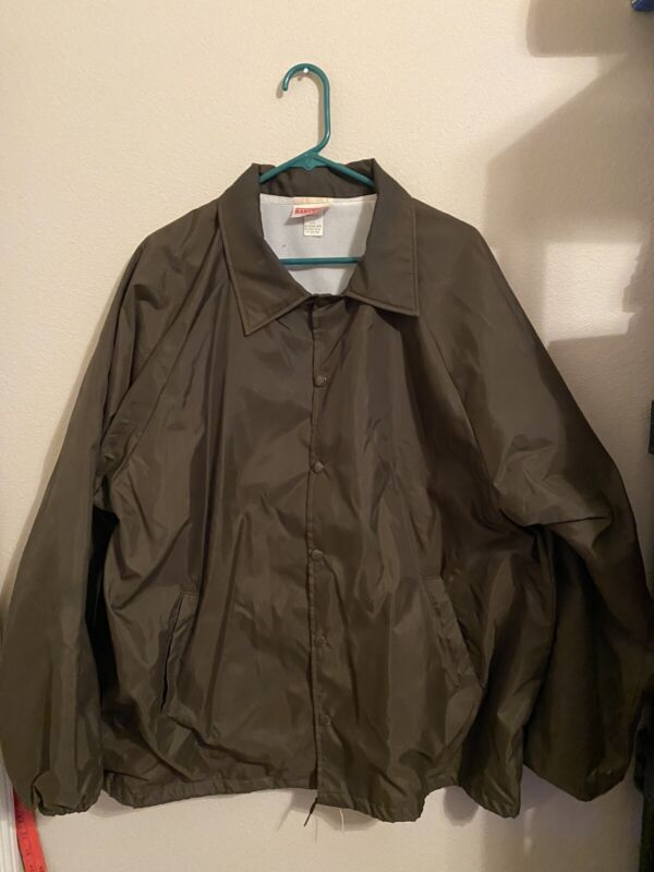 Shriners Al Amin Provost Guard Vintage Wind Breaker Brown Preowned Size XX-Large