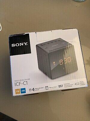 Sony ICFC1 Alarm Clock Radio FM/AM Programmable 10-Station Preset Black