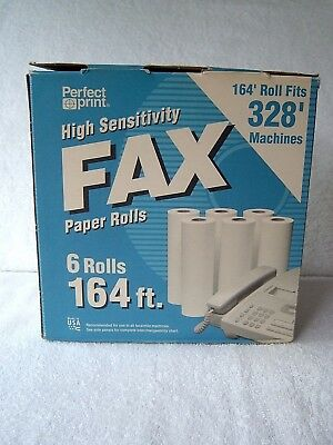 5 Rolls Perfect Print High Sensitivity Fax Paper Rolls