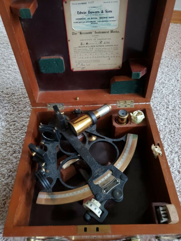 Antique 1946 Heath & Co R434 Hezzanith Rapid Read Marine Sextant Bowers & Sons