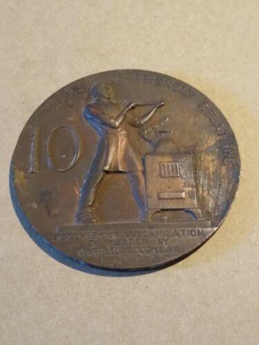 Charles Goodyear Rubber Friendly Medallion Medal