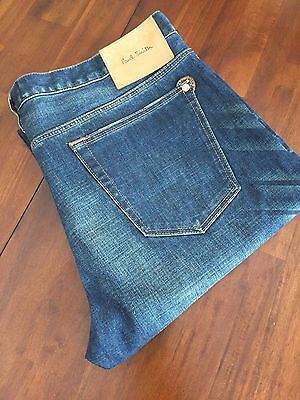 Paul Smith Jeans The Ant Distressed Vintage Tapered Jeans (W 34 L 34) $ 285