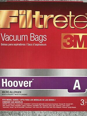 Filtrete 64700A Hoover A Vacuum Cleaner Bags Micro Allergen 3 Bags for sale  Shipping to South Africa