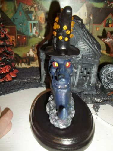 VTG INSPIRED HALLOWEEN CERAMIC WITCH LITE MAN IN THE MOON COPPERHEAD WITCH FACE