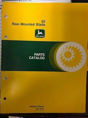 John Deere Manual 65 Rear Mount Blade Pc1813