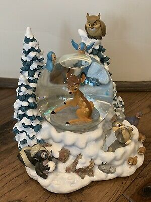 Disney Bambi Musical Snow Globe Christmas Waterglobe