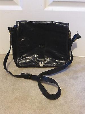 Vintage Leather Shoulder Bag Purse Black