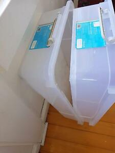 Large plastic storage containers Stanmore Marrickville Area Preview
