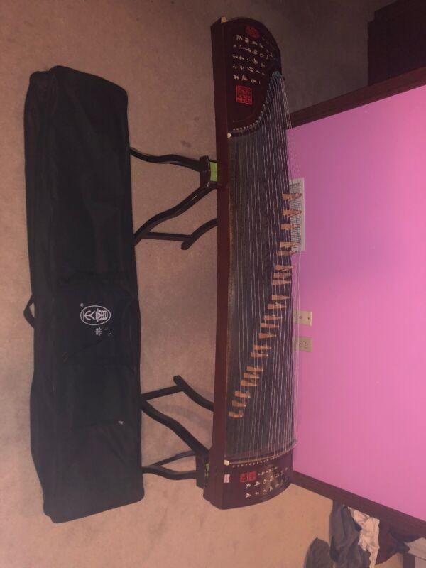 Chinese Zither Harp, 敦煌非洲檀木古箏 -- 雙鶴朝陽 -- 古筝