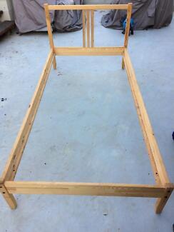 Timber bed frame