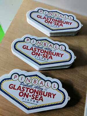 Glastonbury Festival - Glastonbury On Sea - Pinball Alley Sticker