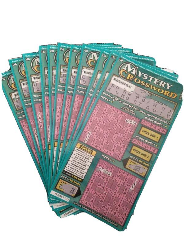 100 California Lottery $10 2nd Second Chance Scratchers 1 winning ticket!