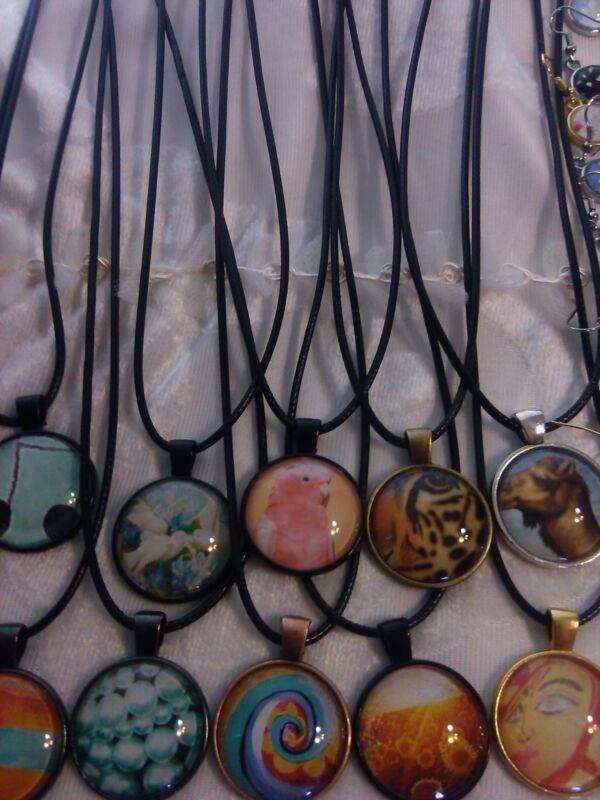 Cabochon necklaces Lots of 60 /Each piece individually packaged. MONEY!