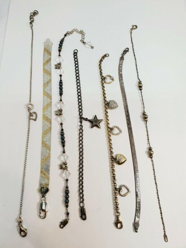 Vintage Sterling Silver 925 Bracelets Lot of 7  (C32)