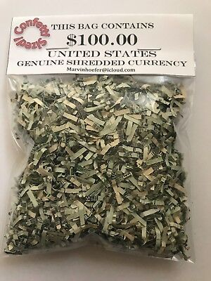 Shredded Money CASH U.S. Currency $100 Authentic Federal Reserve