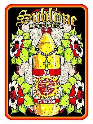 Sublime Sticker: 40 Ounces Oz: Vinyl Long Beach California Skunk Records Reggae