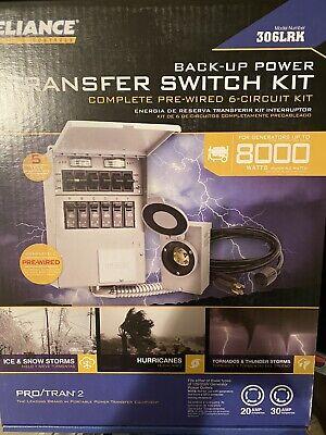 New 6 Protran 2 8000 Watt 6-circuit Generator Transfer Switch Model 306lrk