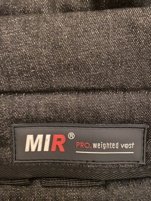 MIR PRO Weighted Vest 57 pound capacity vest 19 pockets * 3 lbs= 57  (vest only)