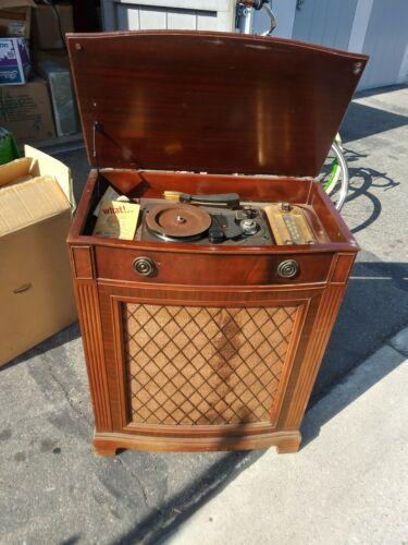 Silvertone Tube Radio Phono Wire Recorder Console