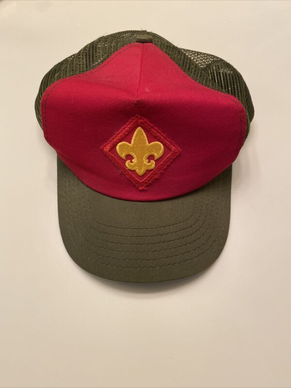 Vintage Official Scouts BSA Boy Scout Baseball style hat - adjustable large size