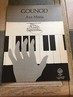 Ave Maria The Pianists Repertoire Gounod Sheet Music Vocal G Schirmer Sacred