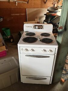 Antique stove and record player