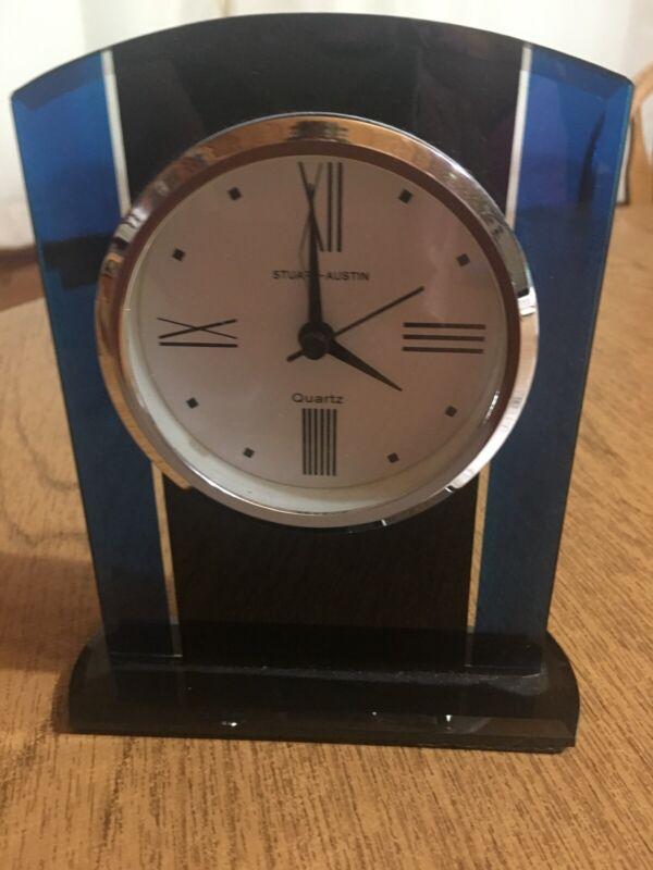 Quartz Stuart Austin Desk Clock with Original Box *New*