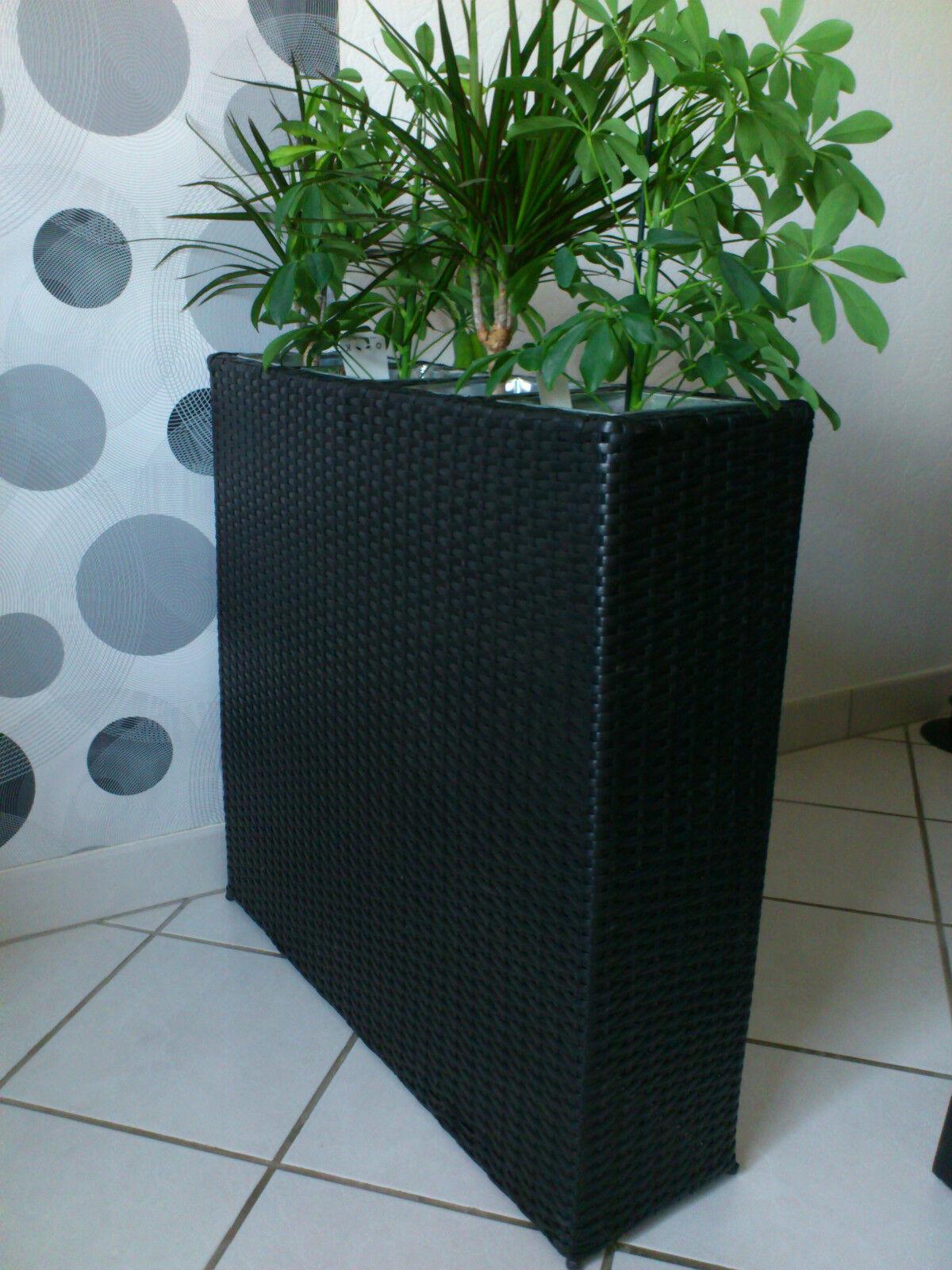 blumenk bel schwarz pflanzk bel raumtrenner sichtschutz pflanzgef polyrattan eur 51 00. Black Bedroom Furniture Sets. Home Design Ideas