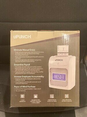 Upunch Hn6200 Time Clock Electronic Calculating Auto-align Punch