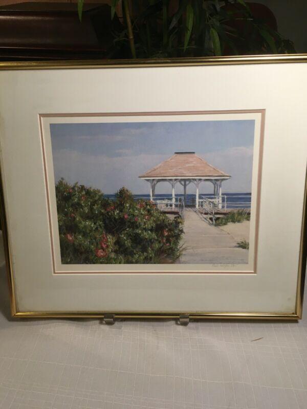 PAULA KOLOJESKI: NJ Jersey Shore Print Pencil Signed and Number Custom Framed
