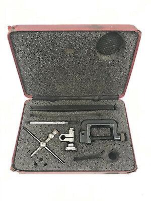 Vintage Starrett 196 Universal Back Plunger Dial Test Indicator Set In Case 3
