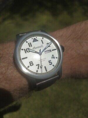 Ingersoll Men's Automatic Watch Hatton 100m WR 47mm Field Flight Aviator Miyota