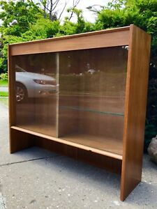 A Mid Century Teak Display Cabinet Hutch