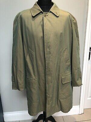 Burberry Green Raincoat Size XXL
