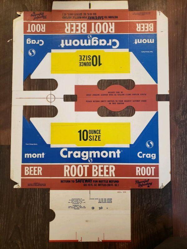 Vintage CRAGMONT ROOT BEER COLA Advertising 10FL OZ SAFEWAY Quality Perfect PROP