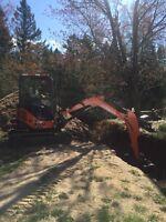 Mini excavator for rent