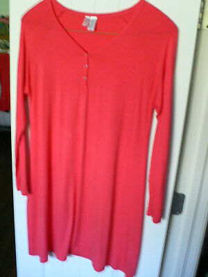 Used, Lamaze Maternity/Nursing Long Sleeve Nightgown CORAL RED Size L/G for sale  Charlotte