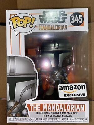 Funko Pop Star Wars The Mandalorian 345 Amazon Exclusive 'MINT'✈️SHIPS TODAY✈️